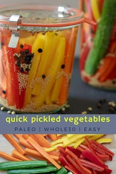 Quick Pickled Vegetables, Quick Pickled Cucumbers, Potato Recipes, Paleo Recipes, Real Food Recipes, Cooker Recipes, Delicious Recipes, Tasty, Yummy Food