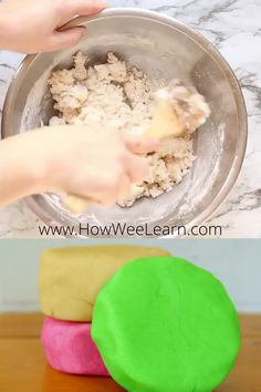 This no cook playdough recipe is amazing! Silky soft, takes 5 minutes to make and lasts for over 6 months! It is so easy to make - this post has a great step by step tutorial with pictures so you can DIY homemade playdough with your kids! Homade Playdough, Soft Playdough Recipe, Homemade Cooked Playdough Recipe, Homemade Clay Recipe, Homemade Paint, Fun Crafts For Kids, Toddler Crafts, Diy For Kids, Plato Recipe