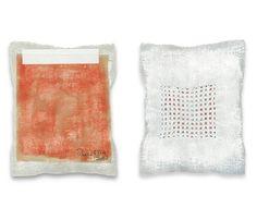 Rachel Meginnes: Bind (Study) 2012 gesso+ink on cloth with drawn thread