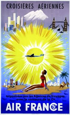 Buy online, view images and see past prices for Croisières Aériennes Air France Rare. Voyage Air France, Herve, Vintage Travel Posters, Vintage Airline, Illustrations And Posters, Vintage Illustrations, Poster On, Paris France, Aviation