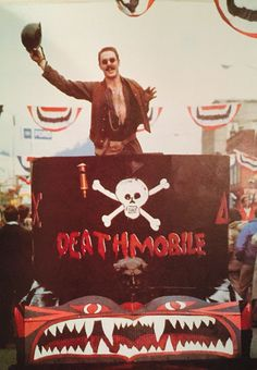 D-Day and the Deathmobile. John Landis, Toga Party, The Blues Brothers, National Lampoons, The Shining, D Day, Guy Stuff, Animal House, Old And New