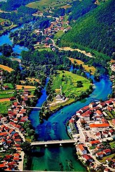 Aerial view of Bosanska Otoka,Bosnia- Herzegovina Places Around The World, Around The Worlds, Places To Travel, Places To Visit, Countries Europe, Bosnia And Herzegovina, Solo Travel, Vacation Trips, Travel Photography
