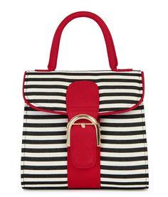Ruby Shoo Riva Black And Red Stripe Handbag