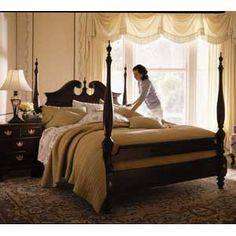 Carriage House Broken Pediment Poster Bedroom Set By Kincaid Furniture.  Carriage House Collection Of Solid Wood Furniture By Kincaid.
