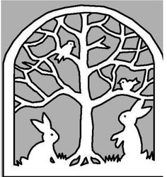 link to a pdf of a stain glass window to cut out for spring (use an exacto knife way easier then sissors