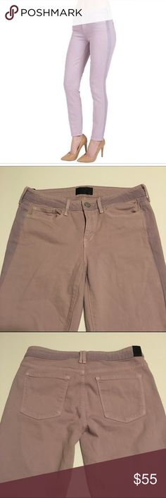 """Vince Dylan ghost stripe ankle skinny Gorgeous lavender skinny jeans with a darker side paneling on pant leg seams and waistband for a slimming effect. Worn into perfect softness! No rips tears or stains. Inseam 27"""" Vince Jeans Skinny"""