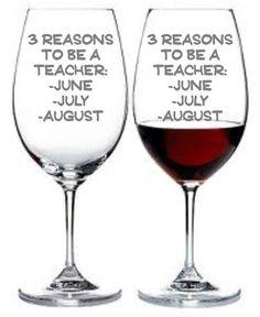 3 Reasons To Be a Teacher Wine Glass Set of 2 by WulfCreekDesigns, $29.95