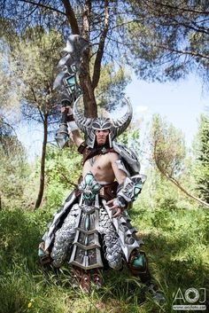 Tryndamere, League of Legends, by PortgasDaceXx, photo by Angel Ortuno.