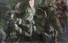 Пергамский алтарь Денис Фроловский  2013г.  90 x 160см.