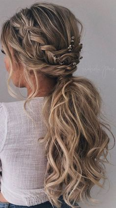 Prom Hairstyles For Long Hair, Dance Hairstyles, Homecoming Hairstyles, Bride Hairstyles, Summer Hairstyles, Bridesmaid Hairstyles, Easy Hairstyles, Elegant Hairstyles, Prom Hair Medium