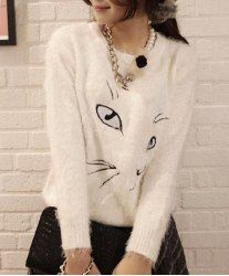 Trendy Long Sleeve Jewel Neck Christmas Sweater For Women | Winter ...