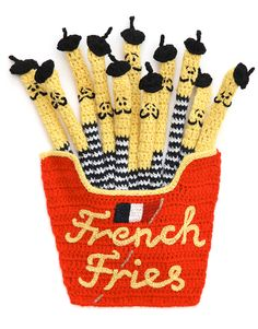 Kate Jenkins | crochet food ✭ french fries