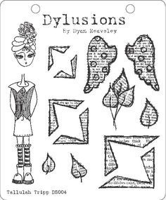 dylusions stamps   Tallulah Trip - Dylusions Stamp