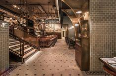 Swift & Sons Bar Cafe Restaurant, Restaurant Design, Riverside Restaurant, Restaurant Trends, Restaurant Interiors, Design Hotel, Seafood Restaurant, Design Interiors, Fulton Market
