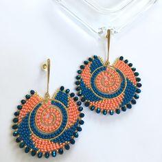 Seed Bead Bracelets, Seed Bead Earrings, Beaded Earrings, Earrings Handmade, Seed Beads, Beaded Jewelry, Crochet Earrings, Macrame Bag, Brick Stitch