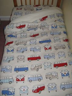 VW Campervan Bedding Set for a Cot Bed/ Junior Bed by Funkysheets, £49.99