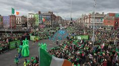 In Dublin, over 500,000 people turned out to enjoy Ireland's largest St Patrick's Day parade.