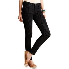 Pre-owned Paige Denim Paige Olga Ultra Skinny Skinny Jeans- ($115) ❤ liked on Polyvore featuring jeans, black, mid rise skinny jeans, lined jeans, skinny fit jeans, mens jeans and black denim jeans