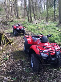 The new quad bikes are being put through their paces at #cardenpark