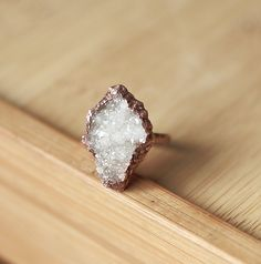 Raw Crystal Ring Quartz Ring Druzy Ring by AmandaLeilaniDesigns, $65.00