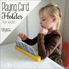 Help your kids hold their playing cards on family game night! {Reality Daydream]