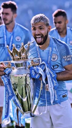 Manchester City retains Premier League title with win over Brighton Champions League Europe, Manchester City Wallpaper, Sergio Aguero, Kun Aguero, Blue Football, City Aesthetic, Free Kick, Zen, Football Wallpaper