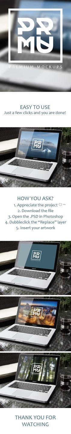 Free PSD Mockup Download by Premium Mockups, via Behance