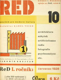 Karel Teige, monthly magazine ReD - Revue Devětsil, 1927-28. Czech Republic, Prague.