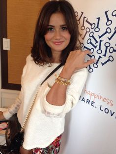 """Catherine Lowe (""""The Bachelor"""") at NYFW showing off her bracelets from Stella & Dot and their new sister brand, Keep Collective!"""