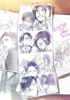 """springstring: """"進撃とか霧森とかibとか(NLまとめ+漫画)by まる。"""" Gahhhhh my heart shattered into a million tiny pieces. levihan is definatly my snk otp"""