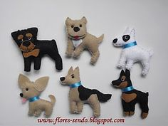..felt dogs to sew