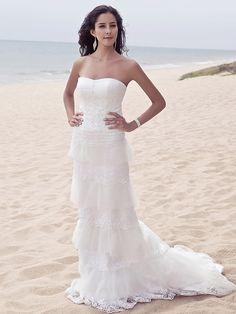 Sheath/Column Plus Sizes Wedding Dress - Ivory Sweep/Brush Train Sweetheart Satin/Tulle - USD $199.99