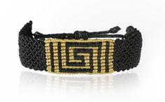 Zoe Kompitsi | Black & Gold Meander Bracelet