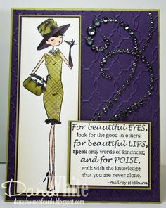 Uptown Girl Audrey LOVES Make Up card - image from Stamping Bella