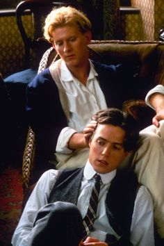James Wilby and Hugh Grant in Maurice Gay Aesthetic, Couple Aesthetic, James Wilby, I Love Cinema, Movies And Series, Gay Couple, Movies Showing, Actors & Actresses, Handsome