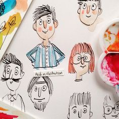 By Heidi M Illustration Dip Pen Sketches Character Illustration