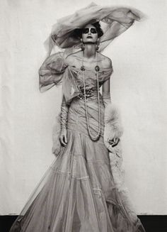 Morgane Dubled wears Dior Haute Couture in 'Portraits of Women' by Steven Klein for Vogue Italia, September 2007.