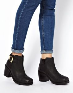 ASOS ADJUST Leather Ankle Boots