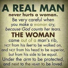 "Man, whoever created this meme never read the Old Testament. And what is a real man? Does anyone know with any degree of certainty? Seriously, the phrase a ""real man"" is the definition of patriarchy! Can I get an amen, Oxymoron."