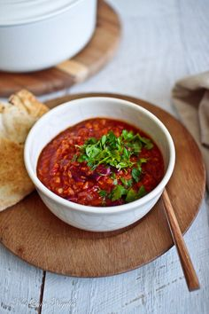 A Wholesome, Hearty Red Lentil & Red Cabbage Stew {Vegan} @ Not Quite Nigella