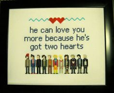And 12 different faces (and counting).   19 Delightfully Geeky Cross Stitches You Wish You Owned