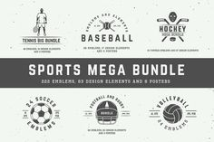 300 Professional Sports Emblems and Elements - only $17!