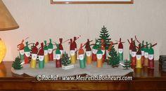 Calendrier de l'Avent à faire avec les enfants 24 lutins de Noël #calendrierdelavent