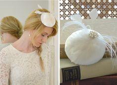 "2015 Kollektion Brautfascinator ""Gloria"" von Seven Heavens Design auf DaWanda.com"
