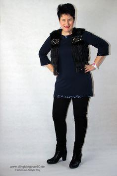 Silvester Outfit - Harmonie in Blau und Schwarz