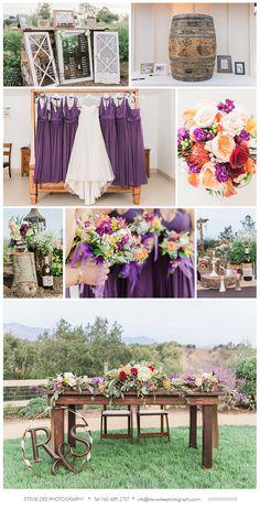 Wedding Decor Inspiration Rustic Outdoor Purple And Orange Colors