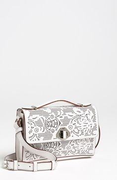 Rebecca Minkoff Blake - Mini Crossbody Bag available at #Nordstrom: could've been sneakily badass if the perf designs incorporated some skulls....probably influence from cinco de mayo