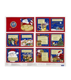 Holiday Inspirations Fabric Mary Engelbreit Night Before Christmas 36'' PanelHoliday Inspirations Fabric Mary Engelbreit Night Before Christmas 36'' Panel,