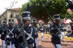 Infanteria en fiestas de la Independencia en Panamá