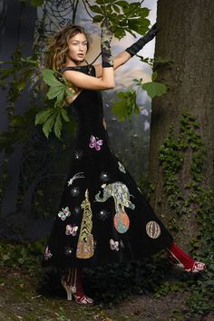 Gigi Hadid models the best couture of the season in a fairy tale fashion shoot photographed by Karl Lagerfeld for the October 2016 issue of Harper's Bazaar. See the full shoot here: